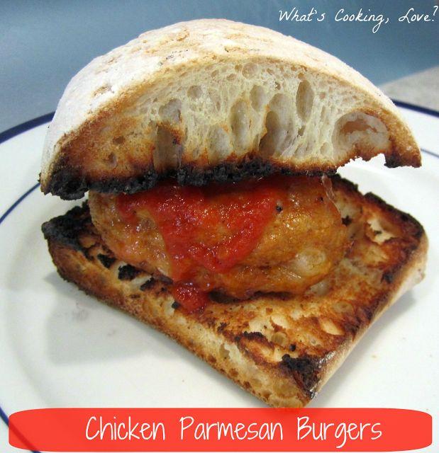 Chicken Parmesan Burgers - Whats Cooking Love? 1 pound ground chicken ...