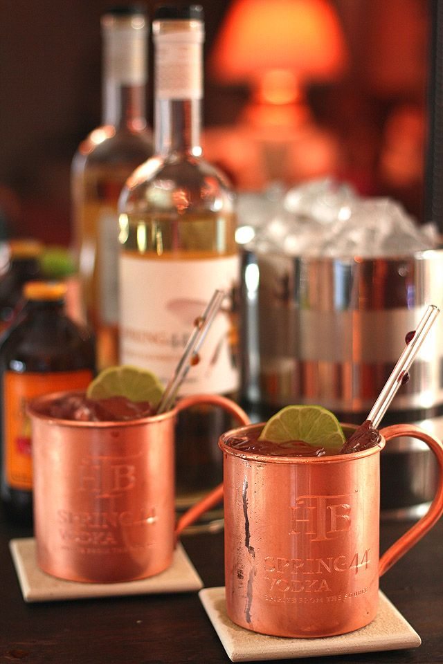 Moscow Mule Revisited as the Denver Donkey 2 oz Spring 44 Honey Vodka ...