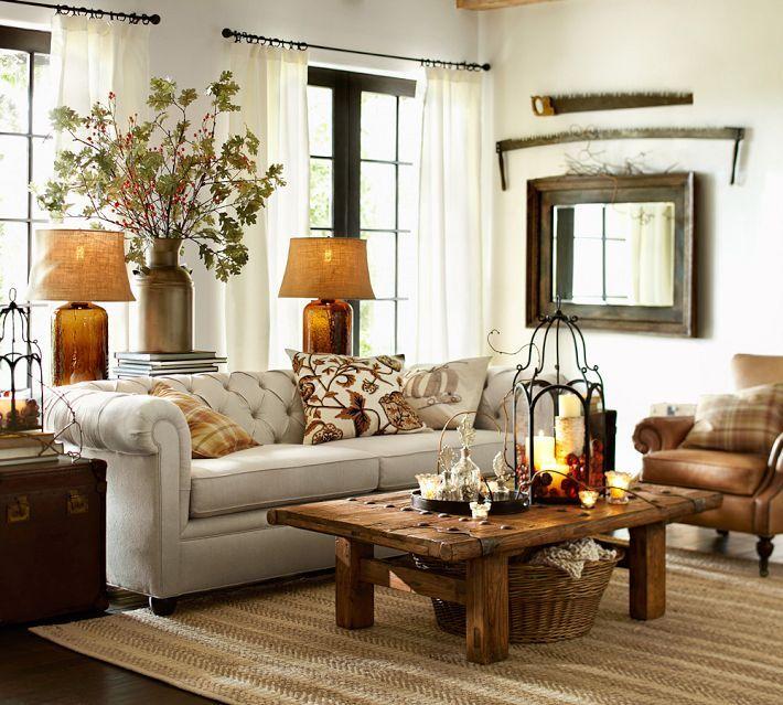 Pottery Barn Living Room To Nest Pinterest