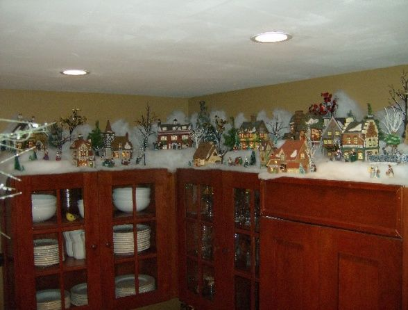 Pin by Trudy Heath on CANNOT wait for CHRISTMAS!  Pinterest ~ 044407_Christmas Decorating Ideas Above Kitchen Cabinets