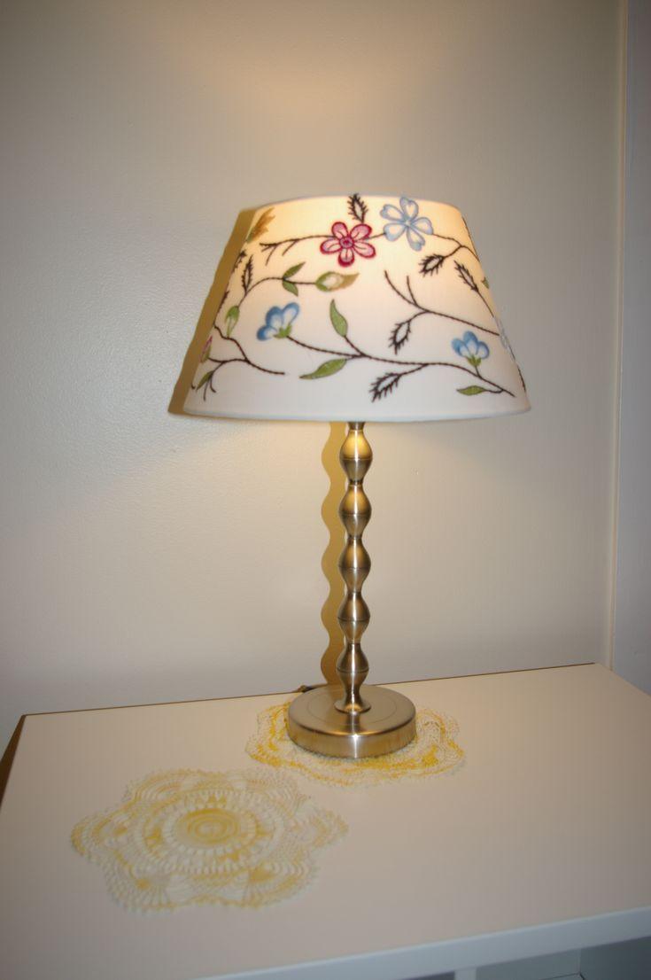 Ikea Table Lamp Base: Table lamp base, nickel plated & Ikea ALVINE P?RLA shade Yellow,Lighting