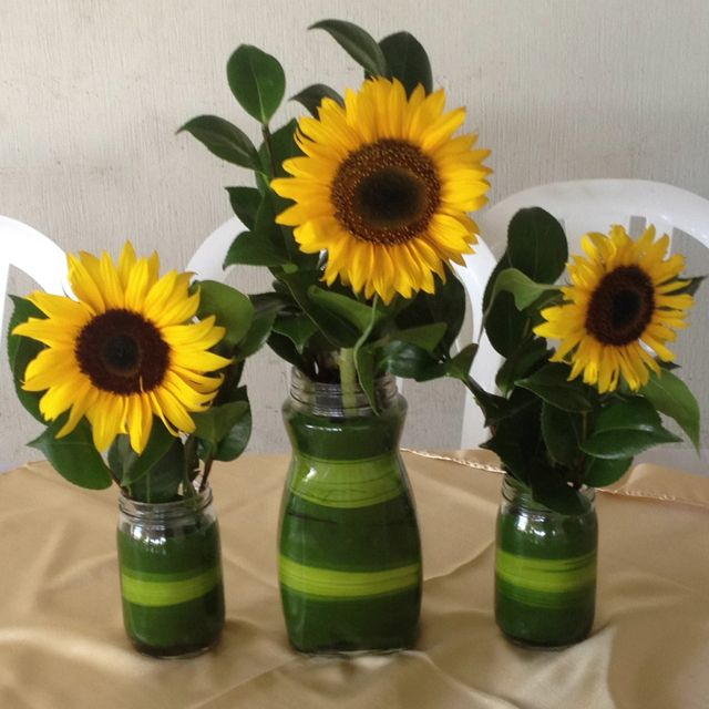Sunflower centerpiece wedding ideas pinterest