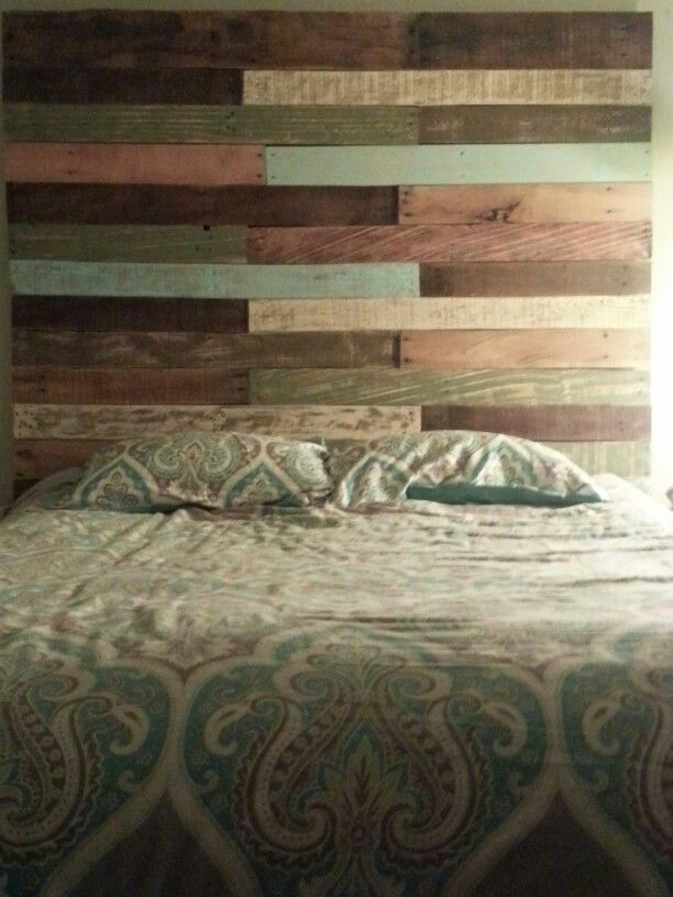 1000 images about headboard ideas on pinterest pallet for Painted on headboard
