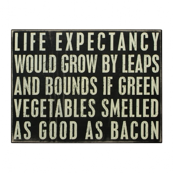 If only greens were as good as bacon. We can dream, can't we?
