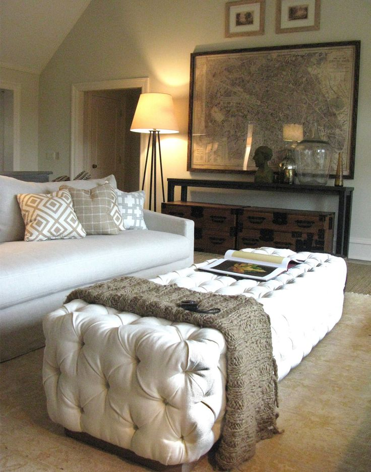console table with box storage, floor lamp, large art with two smaller above Lisa Sherry Interieurs | Interior Design