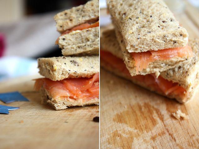 Smoked Salmon & Lemon Butter Tea Sandwich