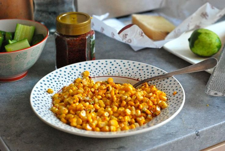 Roasted Corn with Manchego and Lime | Summer Food | Pinterest