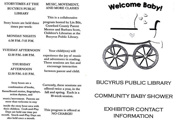 baby shower program fall round robin 2013 pinterest