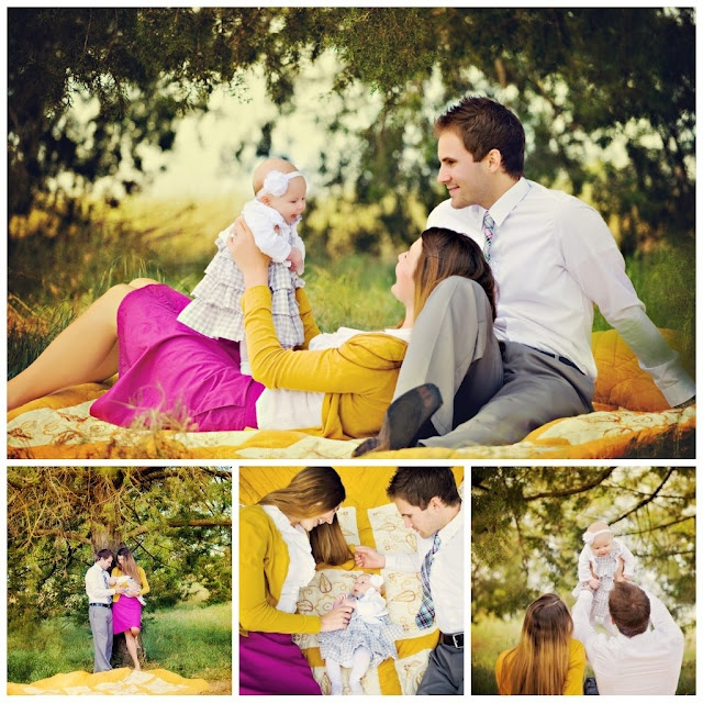 Family photo color palette love the splash of fushia for Family of four photo ideas