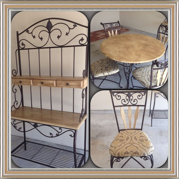 Kitchen Table And Bakers Rack Home Pinterest