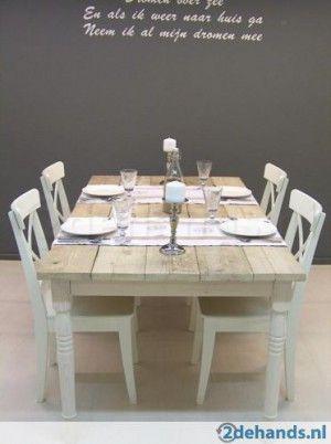 steigerhouten tafel woonkamer  Kitchen  Pinterest