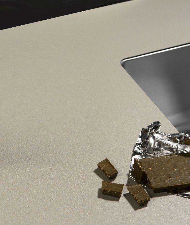 Zdjęcie przybliżone blatu kuchennego z technologii Nano-Tech