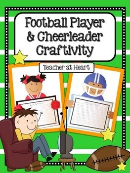 Football Player and Cheerleader Craftivity...perfect for a super bowl craft!