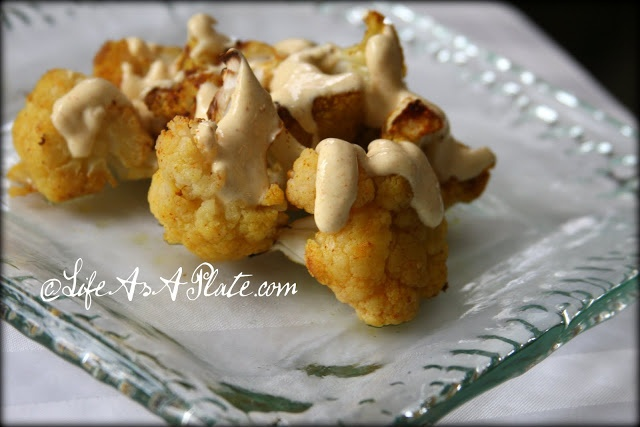 Indian Roasted Cauliflower with Curry Yogurt Sauce | Life As A Plate