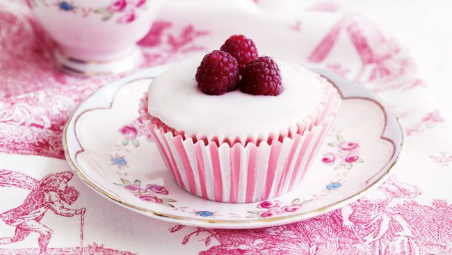 Raspberry cupcakes with rosewater icing. High tea anyone? Photography ...