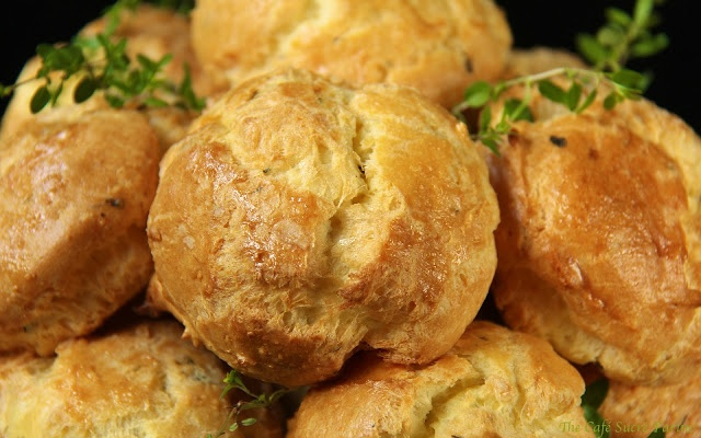 """Fresh Rosemary & Thyme Gougeres (Something of a """"French Biscuit ..."""
