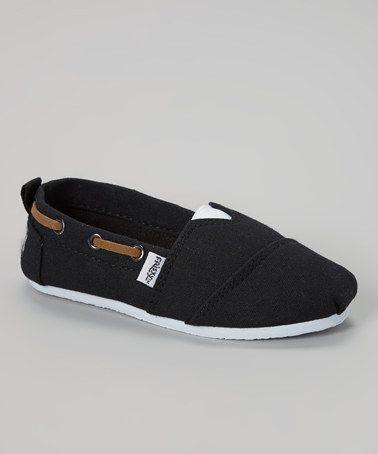 this #zulilyfind! Black Slip-On Boat Shoe by Frisky Shoes #zulilyfinds