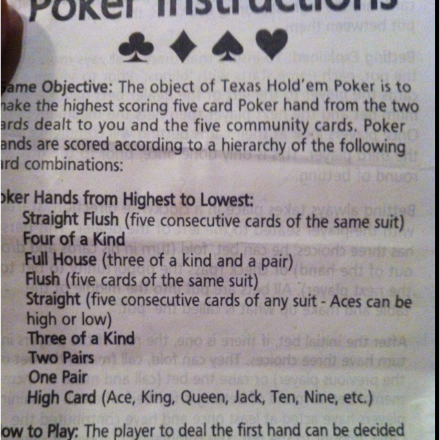 Three of a kind poker rules