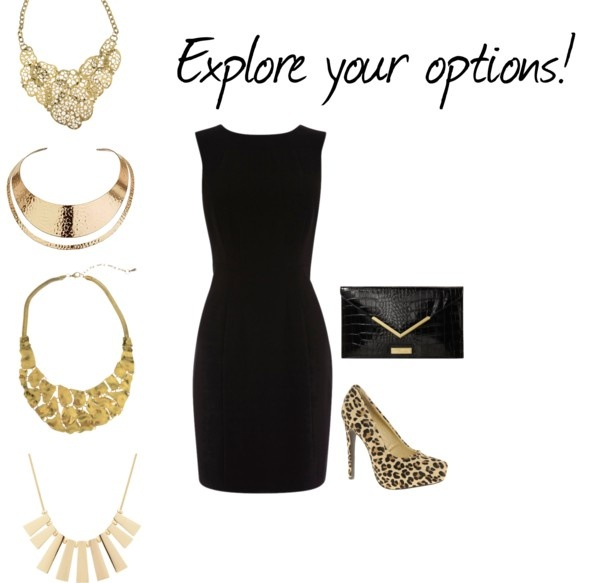 Give your little black dress a new life with a chunky gold for Jewelry accessories for black dress