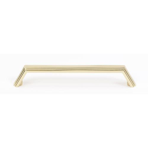 ... Polished Brass 6 Inch Pull Alno Inc Pulls Drawer Cabinet Hardw
