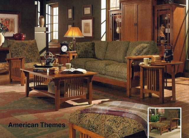 mission style decorating | Stunning Solid Oak Living Room Set, 'American Themes' Collection By ...