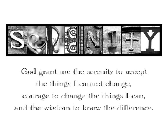SERENITY PRAYER Alphabet Art Letter Photography by shelleycp, $7.00