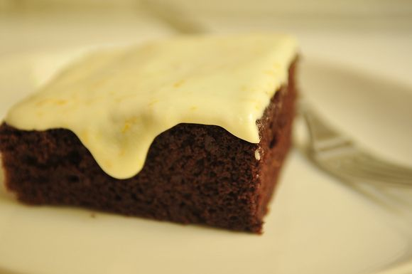 Deep Chocolate Cake with Orange Icing | Recipe