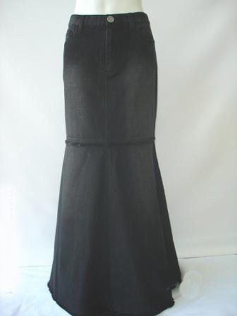 plus size black denim skirt clothes