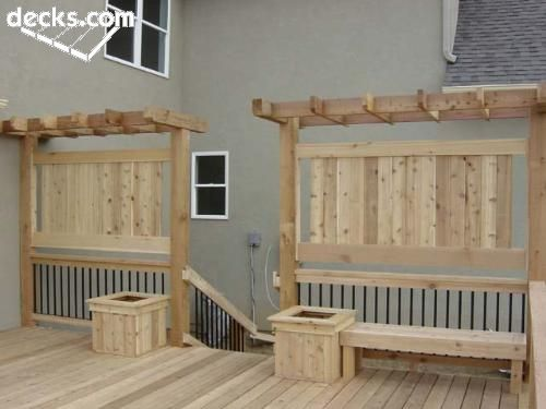 Pin by g on backyard pinterest for Screen walls for deck