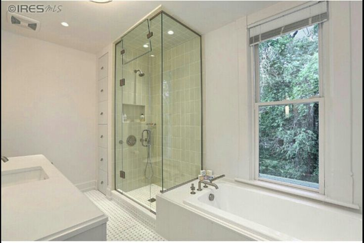 Pin by vivian phinney on rooms i adore pinterest for Fully enclosed shower