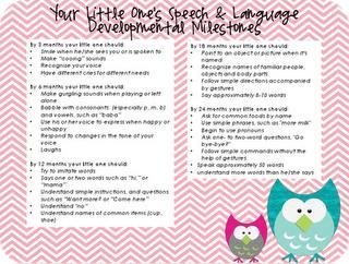 Baby language milestones (free printable) [simply speech.]