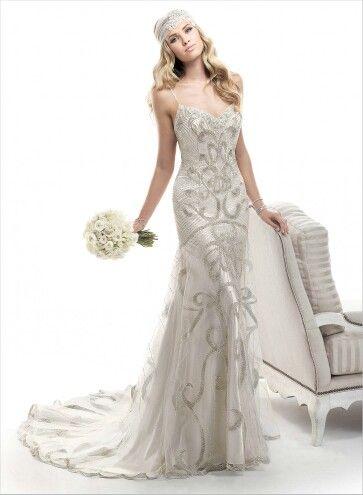 Art Deco Wedding Dress Wedding Bridal Pinterest