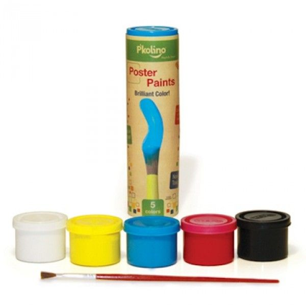 Encourage your young artist with the fun P'kolino Poster Paints, which includes 5 playful colors in resealable containers and 1 paintbrush. Made with nontoxic, water-based, washable paint. www.rightstart.com $9.99
