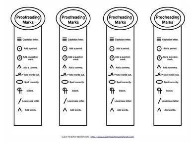 Essay revising symbols