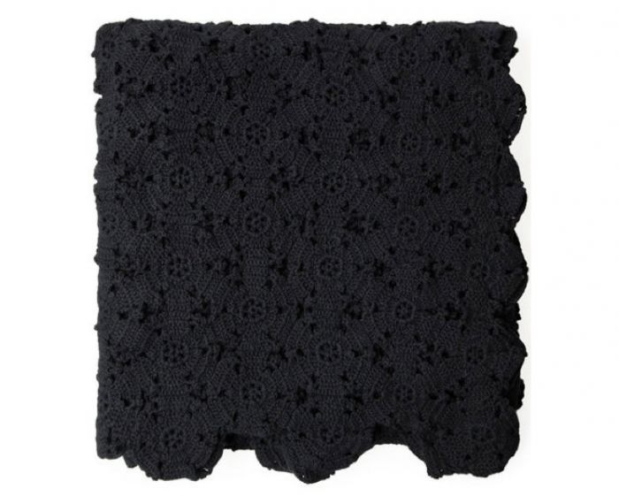 HighLow Black Crochet Bedspread  Remodelista Crochet Blanket Black And White