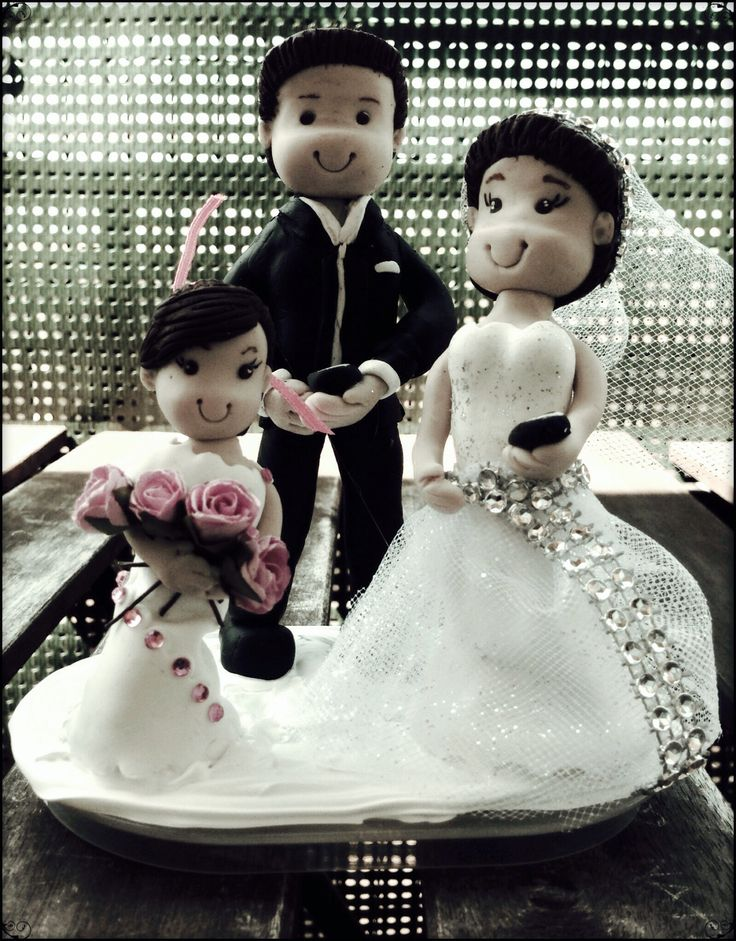 Gâteau de Mariage  MES CREATIONS FIMO  Pinterest