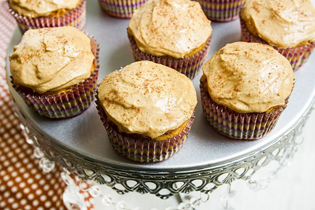Pumpkin Cupcakes with Pumpkin Cream Cheese Frosting | Recipe