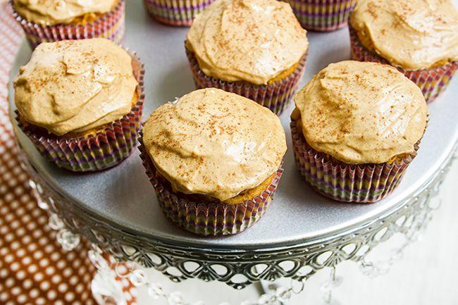 Pumpkin Cupcakes with Pumpkin Cream Cheese Frosting | Recipe