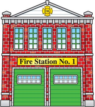 pin by nicole caron on pompiers pinterest firehouse clipart Fire Station Clip Art