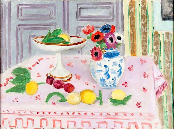 """The Pink Tablecloth"": Henri Matisse."