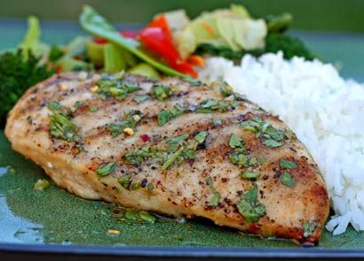 Thai-style Grilled Chicken Breasts | Chicken & Poultry Recipes | Pint ...