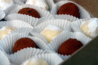 "Cocoa Balsamic Truffles with a ""Wink"" of Cherry"