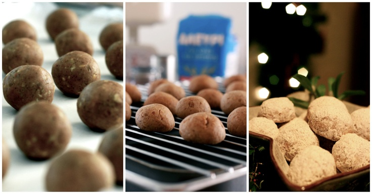 Kourabiedes (Roasted chestnut cookies) | Here's one I made earlier ...
