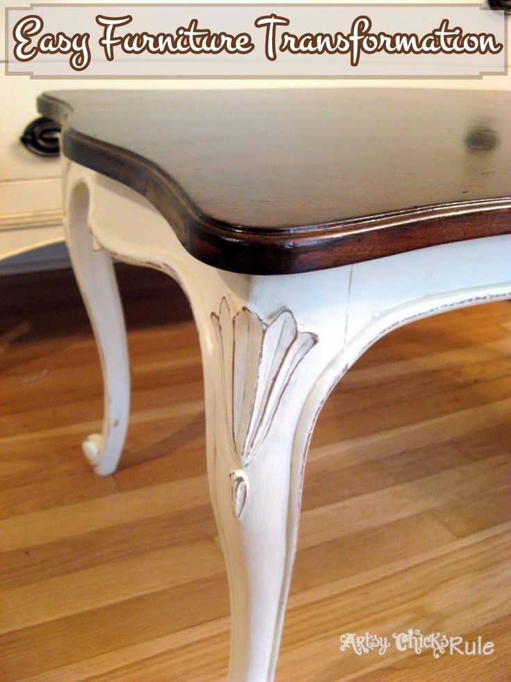Old Thrift Store Coffee Table Transformed With Chalk Paint Polyshad