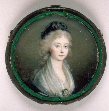 Marie Therese, daughter of Marie Antoinette and Louis XVI, dressed in mourning in honor of her murdered parents.