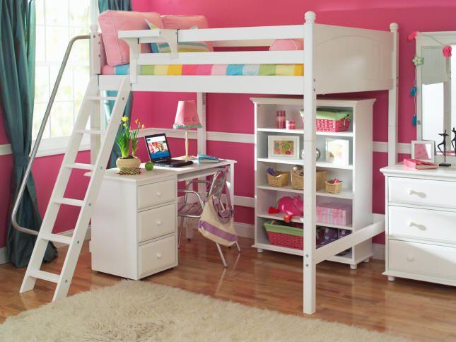 Stella White Loft Bed Full Size Kids Rooms Pinterest