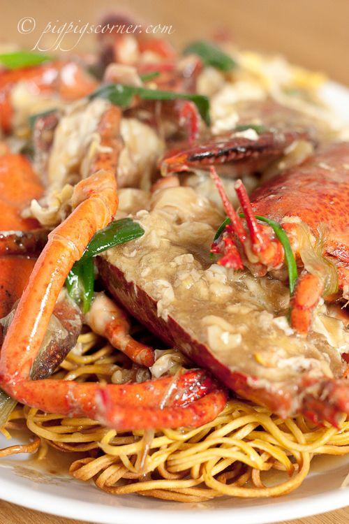Lobster Yee Mein (Lobster Noodles, 上湯龍蝦伊麵) - Note ...