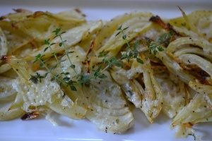 Roasted Fennel with Asiago and Thyme | Vegetarian Side | Pinterest