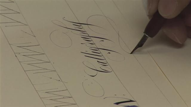 how to write in calligraphy