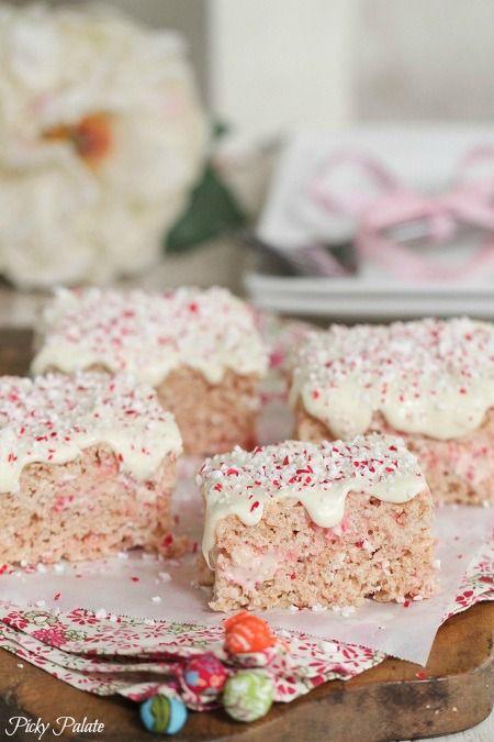 Candy Cane Crunch Krispie Treats | Recipe
